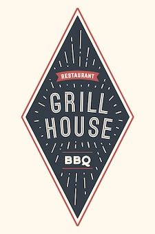 Logo bbq grill house