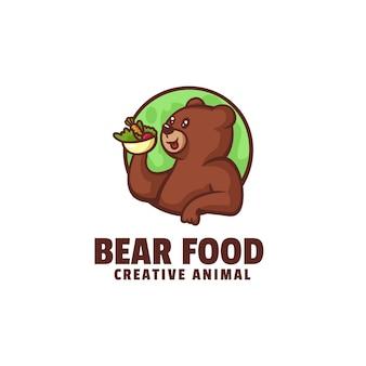クマのロゴのマスコット漫画のスタイル