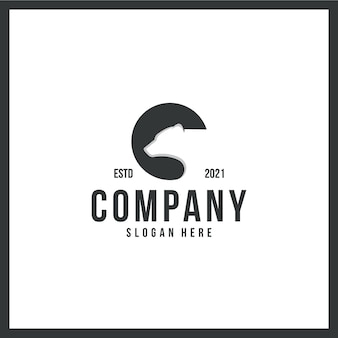 Logo bear , head , strong ,trademark, with black and white color concept