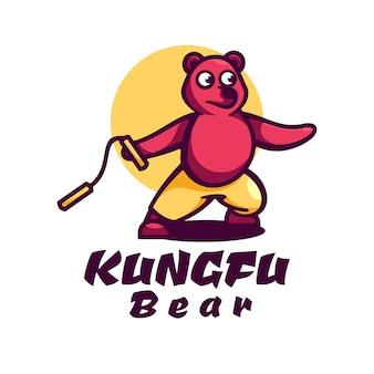 Логотип bear простой стиль талисмана.