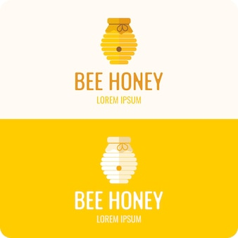 Logo bee honey. stylish and modern logo for bee products.