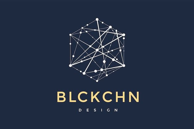 Logo for blockchain technology.