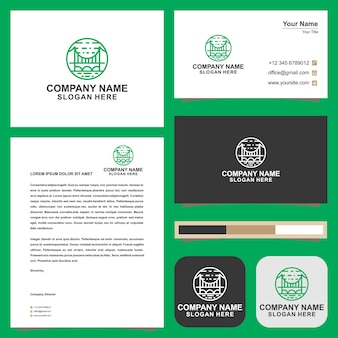 Logo bridge and business card