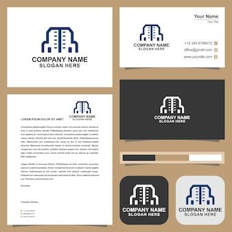 로고 건물 및 명함