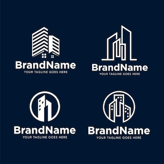 Logo building construction template Premium Vector