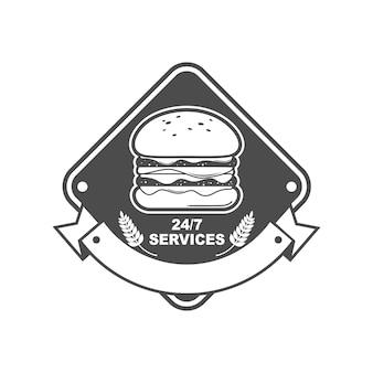 Logo for burger shop