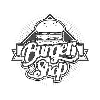 Logo for burger shop