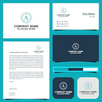 Logo a and business card
