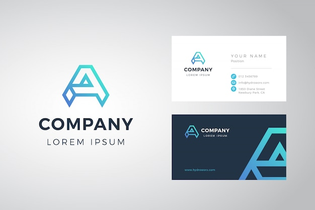 A logo and business card
