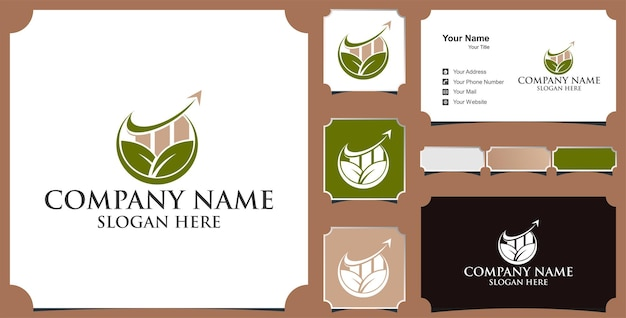Logo for business finance investment and business card