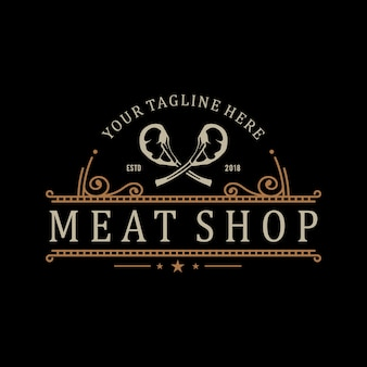 Logo for butcher or farm shop