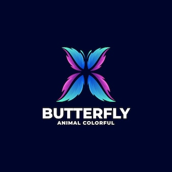Logo butterfly gradient colorful style