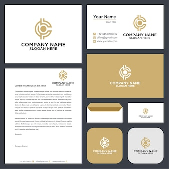 Logo c creative and business card