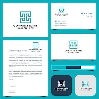 Logo c tech premium and business card