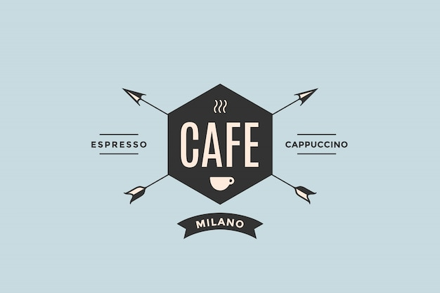 Logo of cafe with arrows