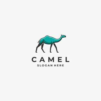 Logo camel walking mascot