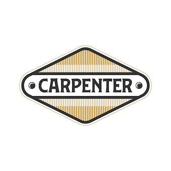 Logo for carpenters with simple models