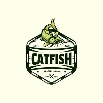 Logo catfish vintage badge style