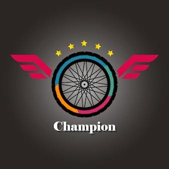 A logo of champion