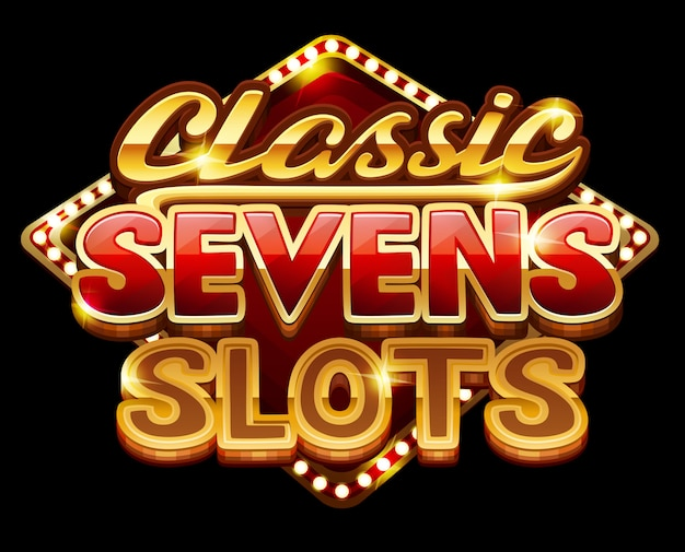 Logo classic sevens slots for game