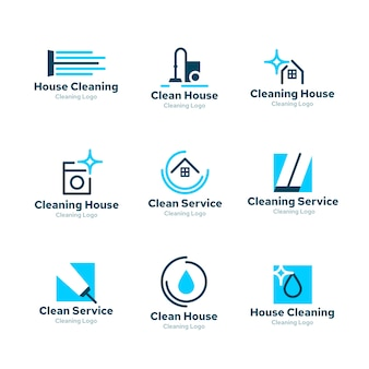 Logo collection design for cleaning