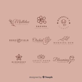 웨딩 플로리스트를위한 로고 컬렉션