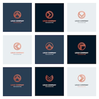 Logo collection of modern business