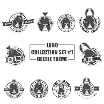 Logo collection set with beetle theme