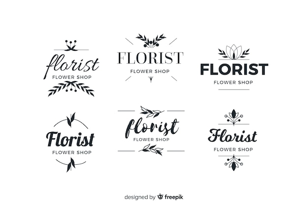 Logo collection for wedding florist