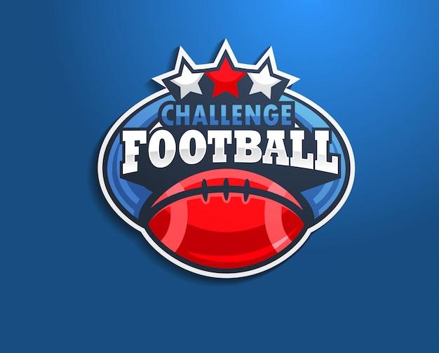 ロゴカレッジアメリカンフットボール。