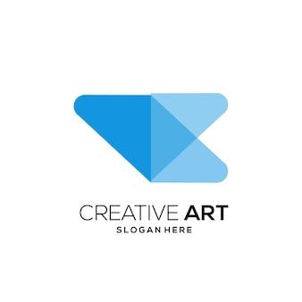 로고 다채로운 현대적인 그라데이션 디자인