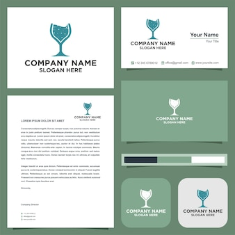 Logo cup and business card