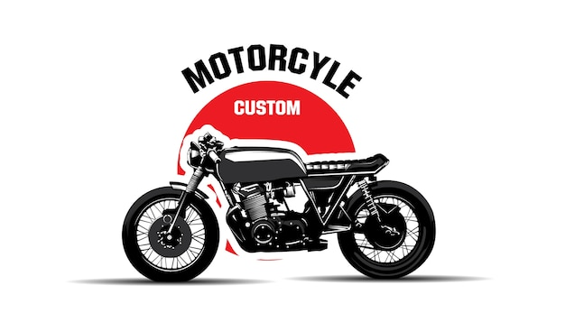 Logo custom motorcycle .vintage classic.