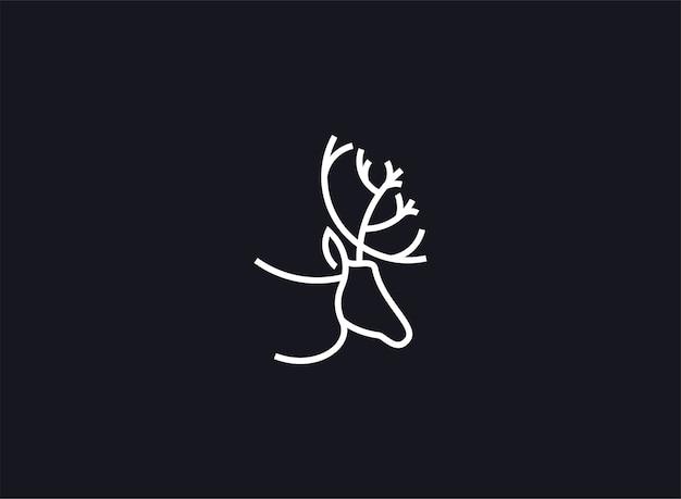ロゴの鹿抽象的なベクトル図