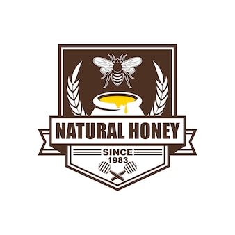 Logo design, badges, banners, social media advertisements and labels for honey products