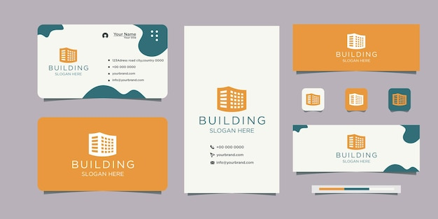 Logo design building for company real estate logo and business card