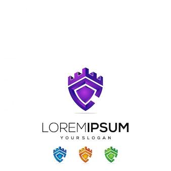 Logo design colorful castle