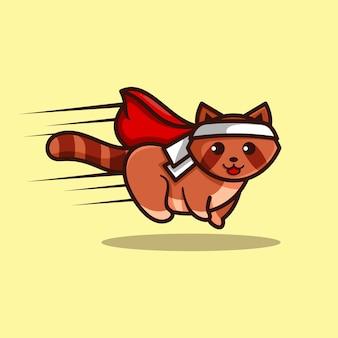 ロゴデザインコンセプト動物マスコット漫画