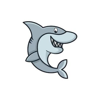 Концепция дизайна логотипа животных талисман мультфильм