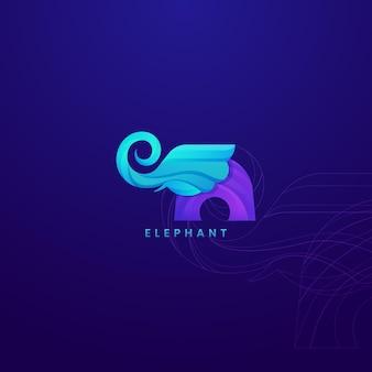 ロゴデザイン象テンプレートロゴベクトル。エレガントでチャーミングなロゴとして使用できます。