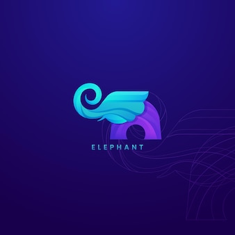 Logo design elephant template logo vector. can be used as an elegant and charming logo.