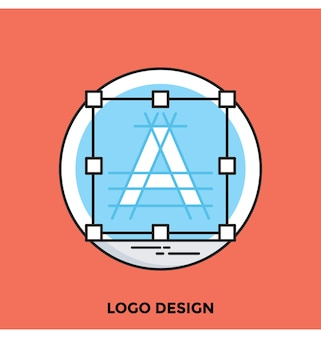 Logo design flat vector icon