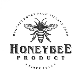 Logo design for honey products or honey bee farms