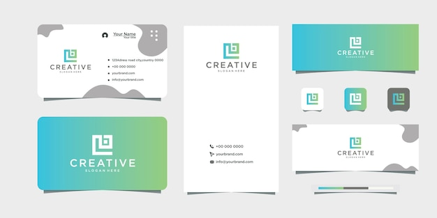로고 디자인 이니셜 로고 lb 명함 디자인