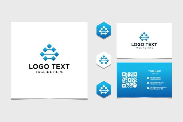 Вдохновение для дизайна логотипа для компании и визитки премиум векторы premium векторы