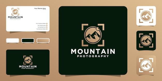 자연 사진가, 모험가 및 자연 애호가를 위한 로고 디자인 영감
