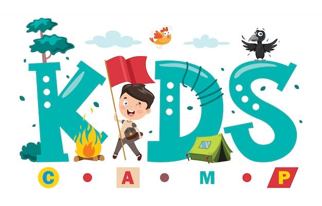 Logo design for kids camp