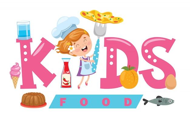 Logo design for kids food