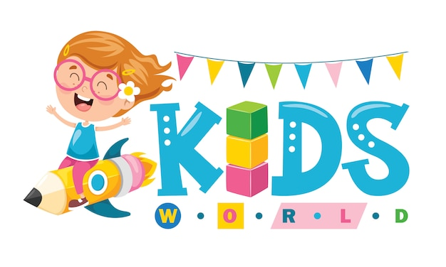 Logo design for kids world