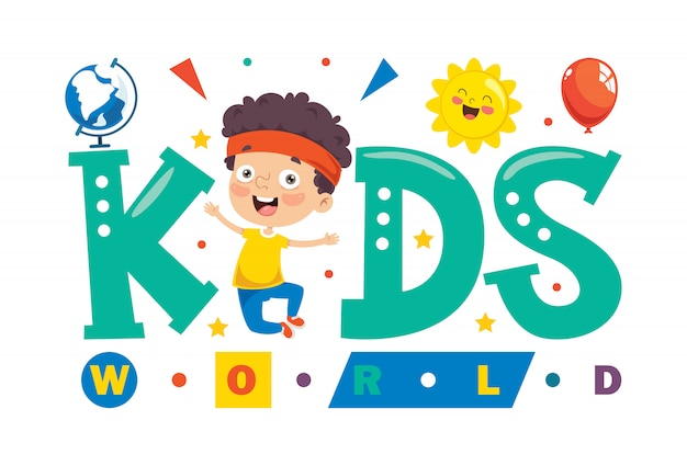 Logo design for kids world